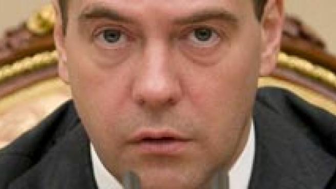 El presidente ruso, Dmitry Medvedev, en el Kremlin (EFE)