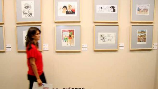 Exposición sobre la violencia de género 'Por una vida sin malos tratos', muestra internacional de humor gráfico. (ICAL)
