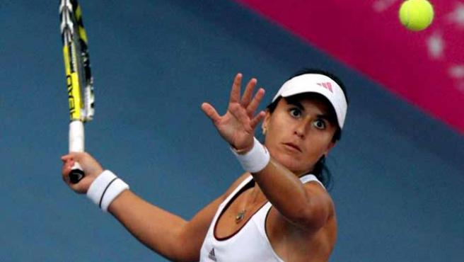 Anabel Medina, durante un partido. (EFE)