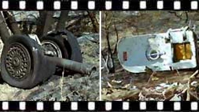 Restos del avión de Spanair siniestrado en Barajas (FOTO: ARCHIVO).