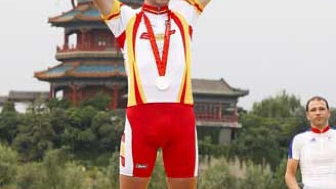 Javier Otxoa se colgó la medalla de plata en la a prueba de fondo en ruta categoría LC3-4/CP 3 en los Juegos Paralímpicos.