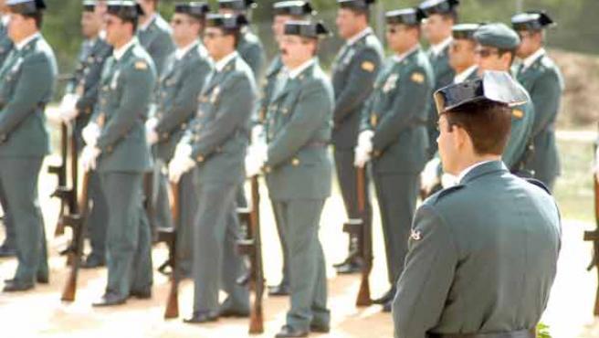 Varios agentes de la Guardia Civil, durante un acto.