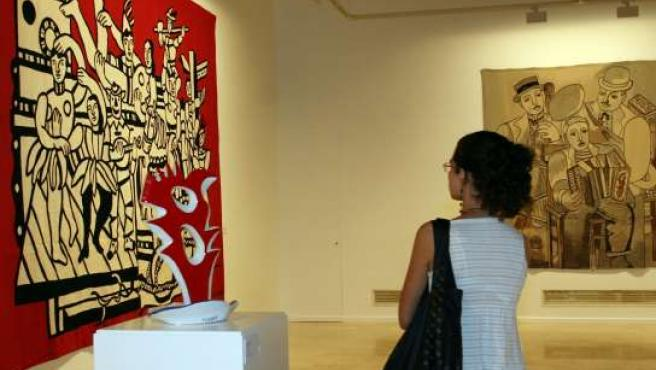 Las obras del artistas francés, en la sala de Unicaja.