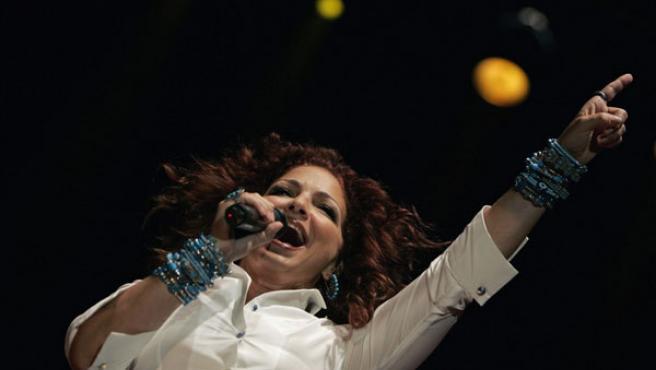 Gloria Estefan durante su concierto.