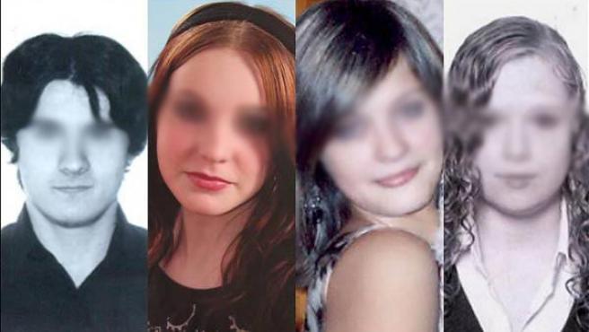 Los cuatro jóvenes asesinados, Andrei Sorokin, Olga Pukhova, Varya Kuzmina y Anya Gorokhova. (THE SUN)