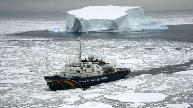 En el 2006 -último año con datos- se registraron pérdidas de hielo sin precedentes. FOTO:GREENPEACE.