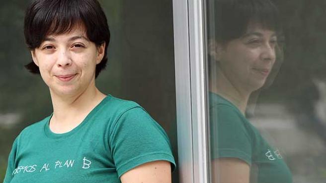 Arantxa Férnandez, del colectivo de bisexuales. (JORGE PARÍS)