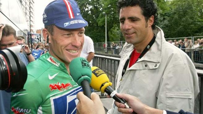 Lance Armstrong y Miguel Induráin, en una foto de archivo. (EFE)