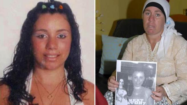 La menor lepera de 15 años desaparecida, Saray Tinoco y su madre con una foto de ella.