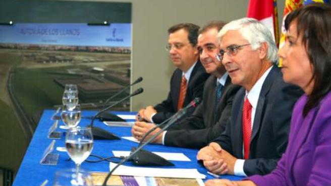 El presidente de la Comunidad, José María Barreda, durante la presentación del proyecto.