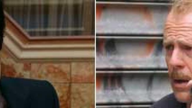Unax Ugalde ('Cuéntame') y Bruce Willis ('16 calles'). FOTOS: TVE1/ARCHIVO.