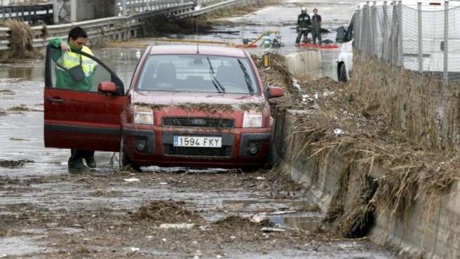 Efectos de las lluvias torrenciales en el este de Madrid. (ARCHIVO)