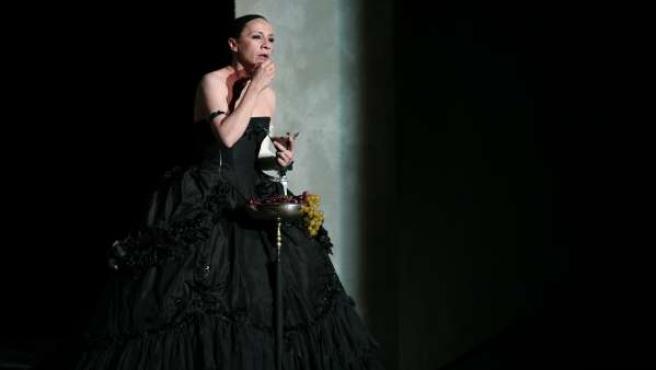 La actriz Blanca Portillo durante la representación de 'Barroco'.