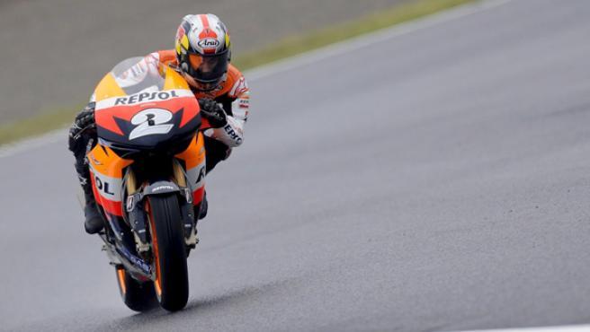 El piloto español Dani Pedrosa, en el circuito de Motegi, Japón. (EFE)