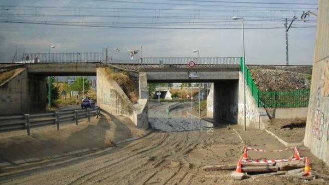 Inmediaciones de la Cañada Real tras la inundación. (M. GONZÁLEZ)