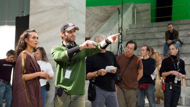 Zack Snyder, durante el rodaje de '300'.