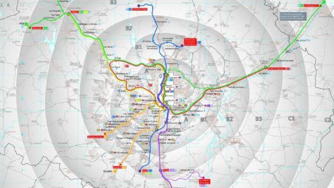 Cercanias Recupera En Su Nuevo Plano El Diseno Geografico Que