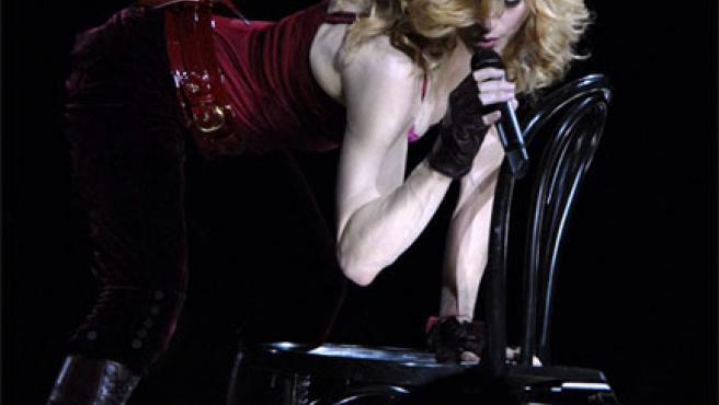 Madonna, dándolo todo en un concierto (Foto: KORPA).