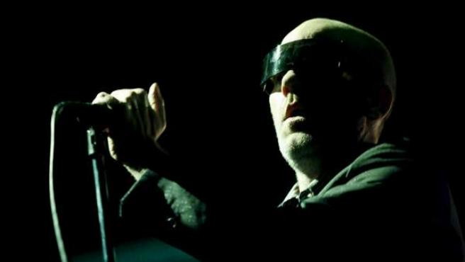 Michael Stipe durante el concierto que R.E.M. ofreció ayer en Madrid.