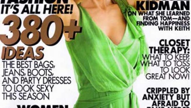 Nicole Kidman, en la portada del número de noviembre de la revista Elle.