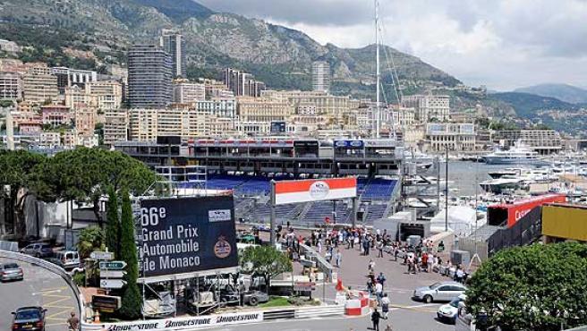 Preparativos para el Gran Premio de Mónaco 2008.