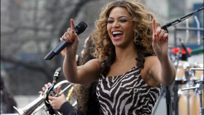 Beyoncé durante una actuación en Nueva York.