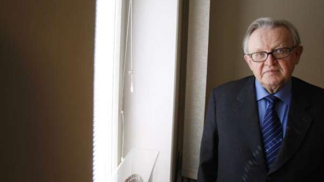Martti Ahtisaari, premio Nobel de la Paz (REUTERS)