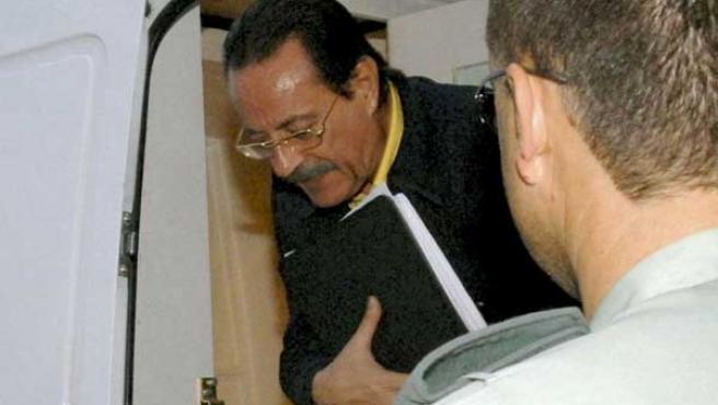 Muñoz, a su llegada al juzgado de Marbella (EFE).