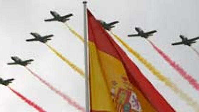 Desfile de las Fuerzas Armadas del 12 de octubre de 2008. (AGENCIAS)