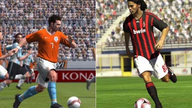 'Pro Evolution Soccer 2009' y 'FIFA 09'.