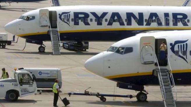 Un avión de Ryanair, en una imagen de archivo. (EFE)