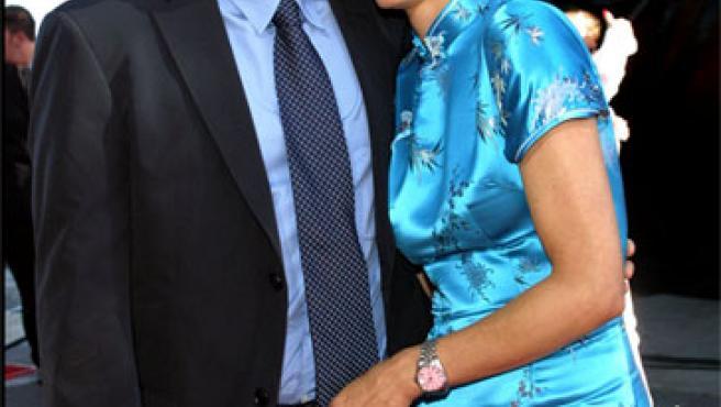 David Duchovny y su mujer, Tea, en una foto de archivo (KORPA).