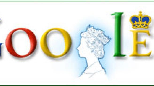 El logotipo modificado del buscador.