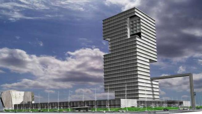 El edificio estará acabado dentro de dos años.
