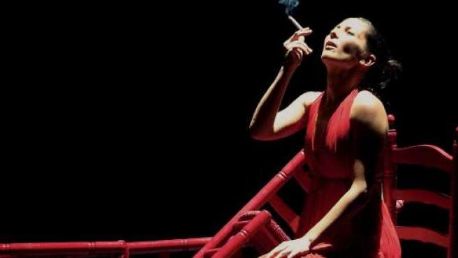 La bailaora Sara Baras en la obra 'Carmen', que pudo verse en la Bienal