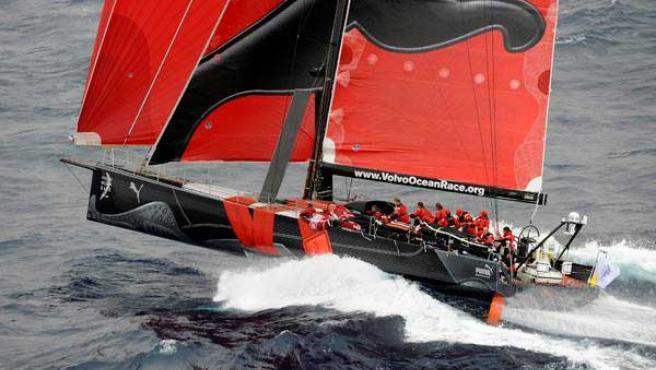 'Il Mostro', la embarcación de 'Puma', en la prueba. (VOR)