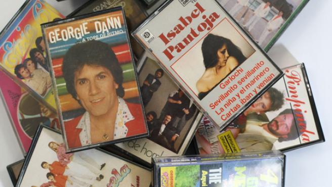 Cintas de cassette de varios artistas. FOTO: JORGE PARÍS.