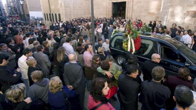 El funeral por Luis Ángel Puente se celebró ayer en Zamora.