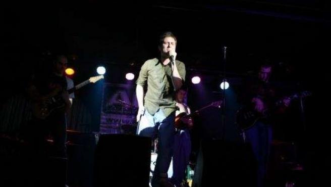 El grupo 7º Sueño, durante una de sus actuaciones en el último festival de la AGV, en el Loco.