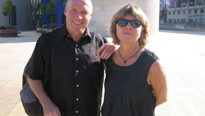 Anders e Ingrid, un matrimonio sueco que ya conocía el euskera.