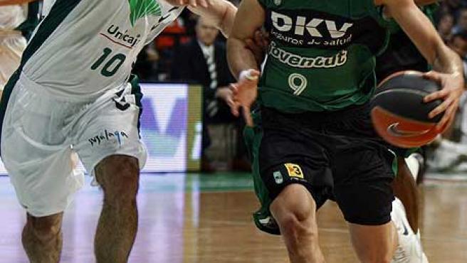 Ricky Rubio, en acción, con la camiseta del DKV Joventut.