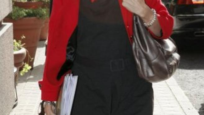 La ministra de Vivienda, Beatriz Corredor, a su llegada al Congreso de los Diputados.