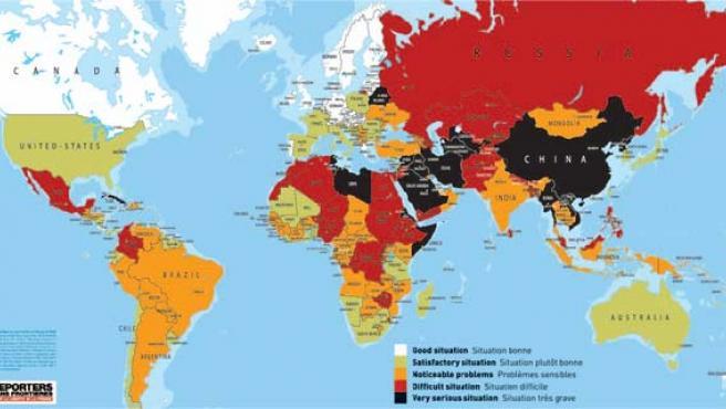 Estado de la libertad de prensa en el mundo (AGENCIAS).