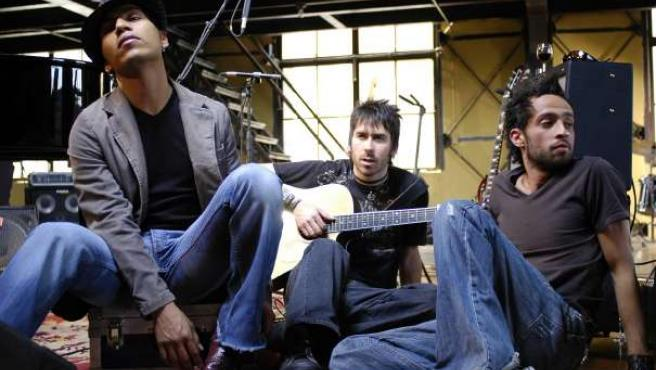 El trío musical mexicano formado por Mario Domm, Pablo Hurtado y Samo.