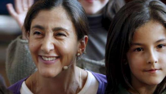 Ingrid Betancourt, ayer en Oviedo.
