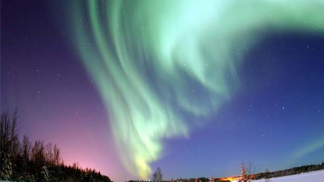 Un ejemplo de aurora boreal (Fuente: WIKIPEDIA).