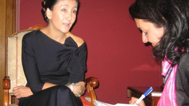 Ingrid Betancourt, entrevistada en Oviedo por 20minutos (FOTO: A.S.)