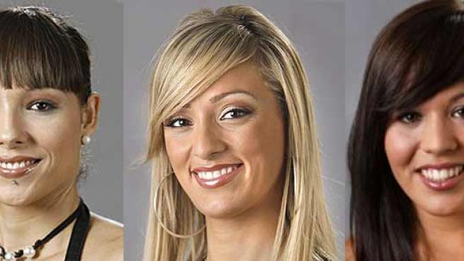 Las tres concursantes de GH 10. (ARCHIVO)