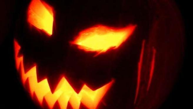 Una calabaza de Halloween.
