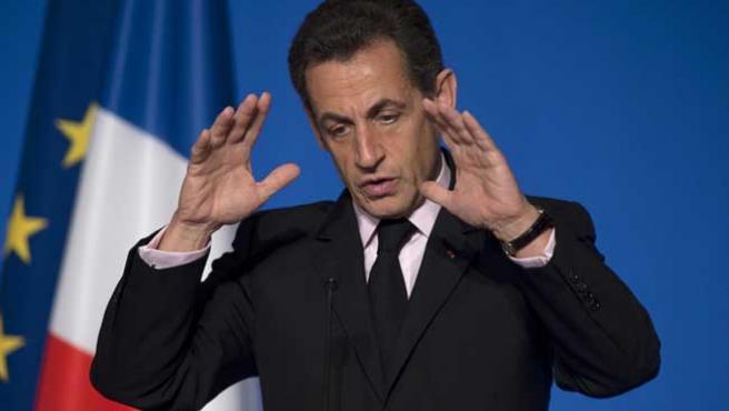 Nicolas Sarkozy, en París (REUTERS)